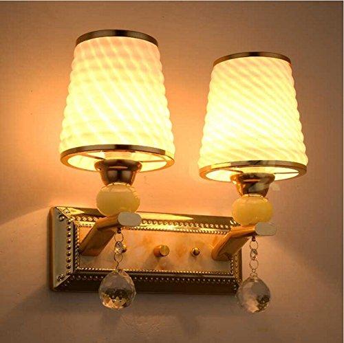 Twin Loft-schlafzimmer (Doppel warme Nachttischlampe modernen minimalistischen Wohnzimmer Schlafzimmer Flur Wandleuchte dimmbare Beleuchtung Continental Hotel Apartments)