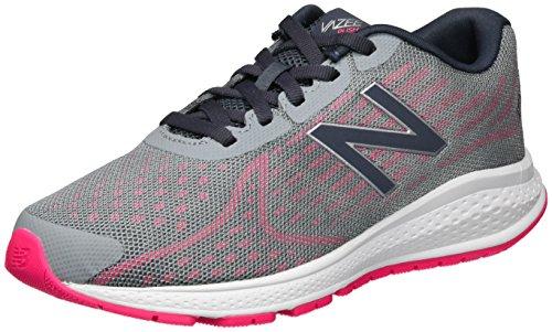 New Balance Unisex-Kinder Vazee Rush v2 Sneakers, Mehrfarbig (Grey/pink), 38 EU