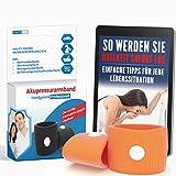 Akupressur Armband gegen Übelkeit - Ideal für Schwangerschaftsübelkeit, Seekrankheit, Reiseübelkeit (Orange) + E-Book: So werden Sie Übelkeit sofort los!