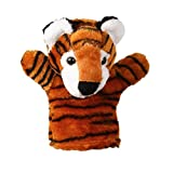 MOST FUNNY! Glove Finger Hand Puppets Toy, GreatestPAK Baby Early Education Kids Cute Soft Plush Cartoon Animal Doll Puppet Toys Story Telling Gift (Tiger)