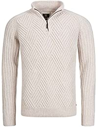 Timberland Moose River 1/2 Zip Sweater Ecru Heather 5640j 103 Pull Homme