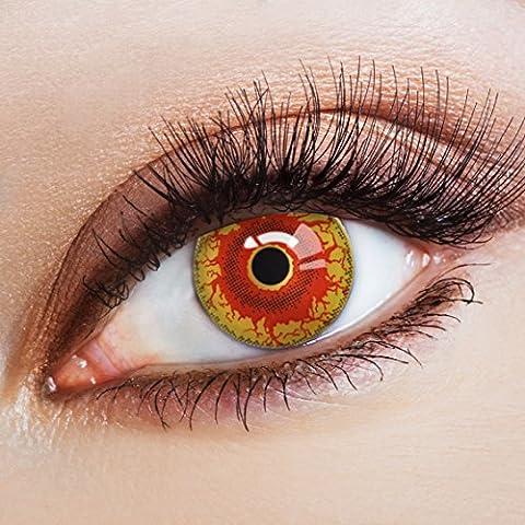 aricona Farblinsen - Funlinsen für dein Horror Halloween Kostüm gruselig farbige Jahreslinsen für LARP & Faschingskostüme | bunte Kontaktlinsen (Kostüm Farbige Kontakte Günstige)
