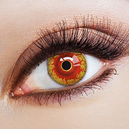 aricona Farblinsen - Funlinsen für dein Horror Halloween Kostüm gruselig farbige Jahreslinsen für LARP & Faschingskostüme | bunte Kontaktlinsen farbig