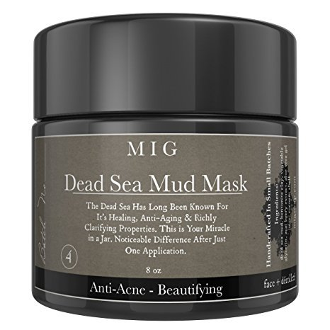 MIG Soap & Body Co Organic Dead Sea Mud Mask By MIG Soap & Body Co Facial Acne Blackheads Pimples Scars Treatment Wrinkle Reduction with Dead Sea Minerals to Help Pull Toxins From Skin Natural
