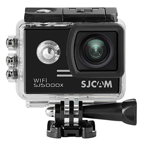 16GB TF-Karte + SJCAM SJ5000X Elite Sport Action Kamera Ultra 5,1 cm LTPS WiFi 4 K 24 FPS 2 K30fps Kreisel Sport DV 2.0 LCD ntk96660 Tauchen 30 m Wasserdicht Action Kamera(Black)