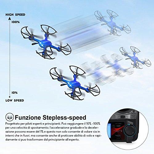 Potensic Drone con Fotocamera 720P HD Drone F181DH FPV LCD Monitore a Schermo con Funzione di Sospensione Altitudine, modalità Senza Testa, Allarme di Fuori Portata - 4