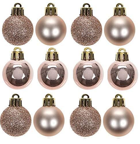 TOYLAND Paquete 32 - Adornos árbol Navidad Oro Rosa
