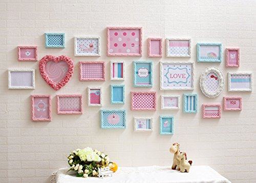 X&L Große Wand Foto Rahmen Wand europäischen solide Holz Wohnzimmer kreative Kombination Hochzeit Geschenk Fotowand - 2