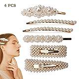 Handmade Mädchen Perlen Haarspangen Kit, Eleganz Dekorative Haarnadeln, Damen Mode Haarschmuck, Frauen Barrettes Braut Haarspange für Hochzeit Engagement 6 stücke