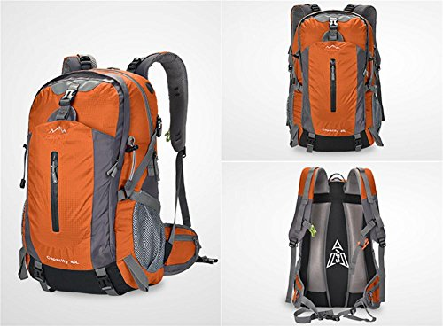 ROBAG Zaini impermeabili uomini e donne di 50L backpacking outdoor viaggi borsa... , blue 50 litres orange 50 litres