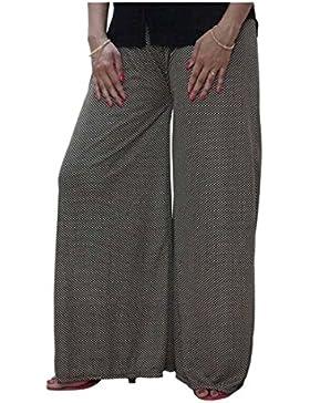 DiscountZila Flared Women's Black, Cream Trousers