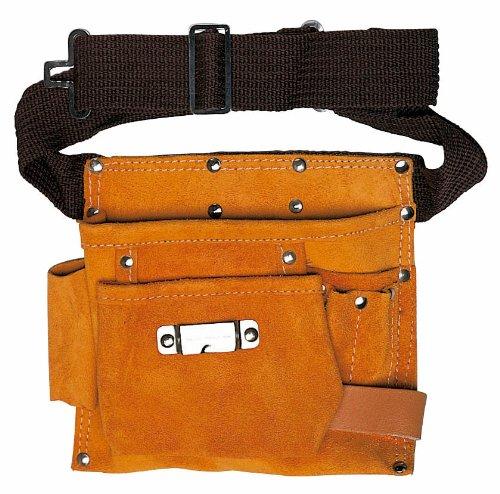 Maurer 80948 Sac à outils de charpentier, 2 poches et 2 fentes, beige
