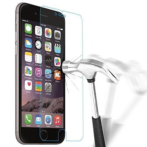 Apple iPhone 7Plus (5,5pollici) Confezione da 5proteggi schermo in vetro temperato facile senza bolle HD Ultra chiara vetro Gorilla Glass, Durezza 9H, Antigraffio e infrangibile resis