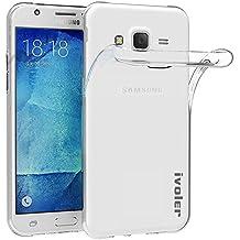 Samsung Galaxy J5 2015 Funda, iVoler TPU Silicona Case Cover Dura Parachoques Carcasa Funda Bumper para Samsung Galaxy J5 2015 SM-J500H, [Ultra-delgado] [Shock-Absorción] [Anti-Arañazos] [Transparente]- Garantía Incondicional de 18 Meses