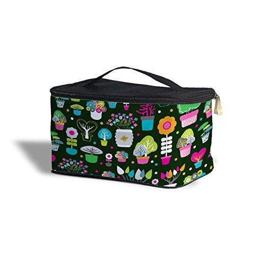 Vert doigts Jardinier cosmétiques boîte de rangement – Maquillage fermeture éclair sac de voyage One Size Cosmetics Storage Case vert