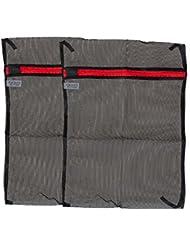 ziatec feinporiges Red con cremallera, red de lavado Cesto Bolsa, Bolsa de Lavado, la ropa de redes, color 2 x schwarz, tamaño 28 x 40 cm