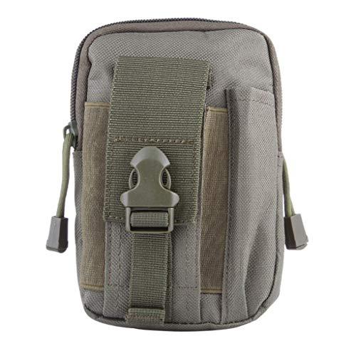 Taktische Hüfttaschen für Herren/Skxinn Männer Sport Tasche Gürteltasche, Outdoor Beutel Taille Taschen für Gadget-Dienstprogramm Handy Camping Wandern und Reisen Ausverkauf(Armeegrün)