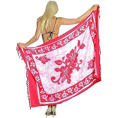 Aloha vestito più pareo involucro costume da bagno ibisco sarong coprire sciarpa costume da bagno