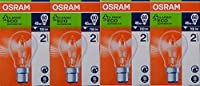 4 x OSRAM GLS 46W =60W BC B22 Classic ECO Superstar Energy Saving Halogen Light Bulbs, Dimmable Lamps, Bayonet Cap, 240V from OSRAM