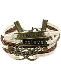 Mix Liebe Herz Love Heart Armband geflochtenes Charm Kette Armband