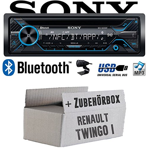 Renault Twingo 1 - Sony MEX-N4200BT | Bluetooth CD/MP3/USB Autoradio - Einbauset