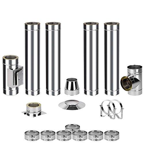 EASY kit de montage pour cheminée en acier 0–6 5,2 m