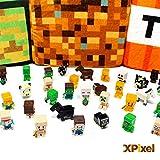 Spainbox Pack de 36 Minifiguras Pixel - Incluye Zombies, Creepers, Ovejas, Gatos, Caballos, Vacas, Steve, Enderman y Muchos más