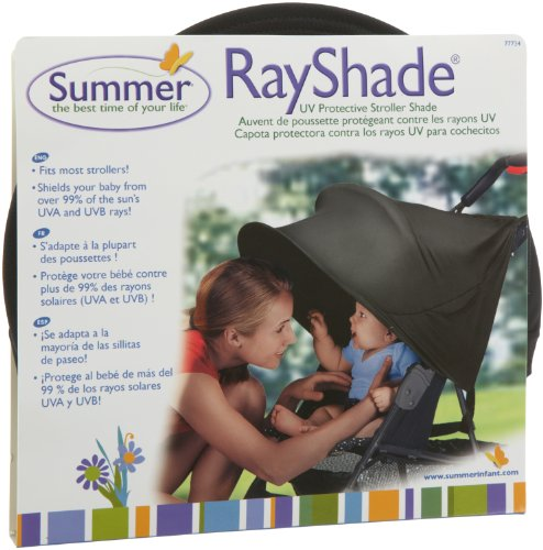 RayShade Sonnensegel / Sonnenschutz für den Buggy, schwarz