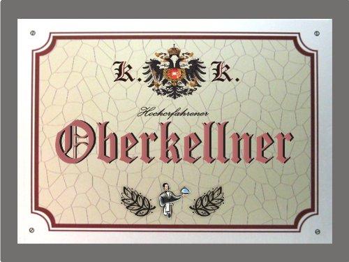 Metallschild Oberkellner - Schild Österreich (XXL 36 x 28 cm)