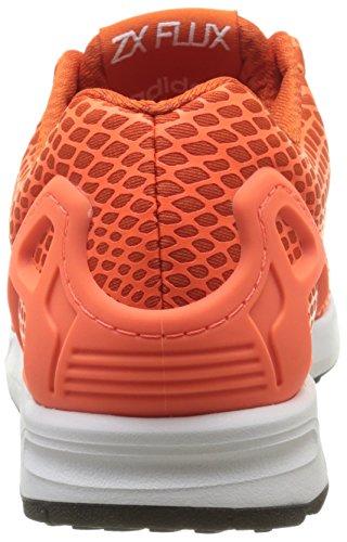 adidas Zx Flux Techfit, Baskets Basses homme Orange (Collegiate Orange/Solar Orange/Ftwr White)
