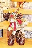 KAMACA Deko ELCH/RENTIER aus Stoff mit knuffigem Outfit ausgefallene Dekoidee oder zum Verschenken zu Winter Weihnachten (Rentier rot braun 4 Beine 60 x 30 x 15 cm)