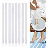 Incutex 8x tiras antideslizantes para bañera y ducha de 38 cm de largo – 2 cm de ancho, autoadherentes, transparentes