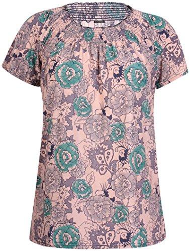 Damen Übergröße Bedruckt Damen Kurzarm Elastisch Halsausschnitt Tunika Lang Kittel T-Shirt Kleid Top Grün