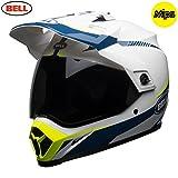 Bell Helme mx-9Adventure MIPS, Taschenlampe Weiß/Blau/Gelb, XS