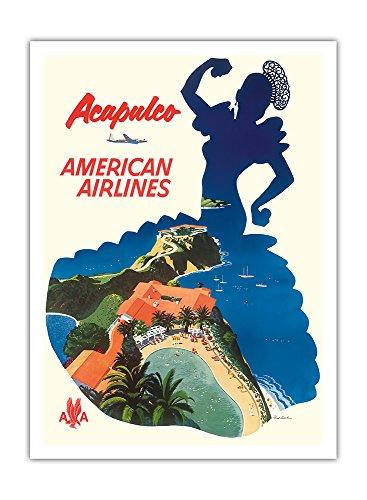 acapulco-mexique-american-airlines-silhouette-dune-danseuse-mexicaine-airline-affiche-vintage-de-voy