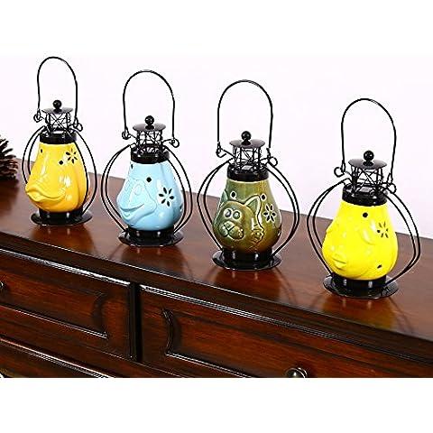 Candela continental/ceramica/vento mano leggera/retro/ferro ornamenti d'arte