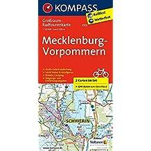 Mecklenburg-Vorpommern: Großraum-Radtourenkarte 1:125000, GPX-Daten zum Download (KOMPASS-Großraum-Radtourenkarte, Band 3702)