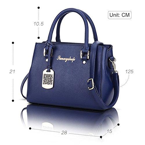 Borse spalla borsa di modo signore sacchetti del messaggero delle donne Blu Blu Beige