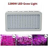 Asvert 1200W LED Lampe de Croissance Floraison Horticole à Double Chips Spectre Complet pour Plantes et Fleurs, 400*210*60mm (14400LM)