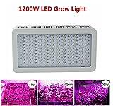 Asvert 1200W LED Lampe de Croissance Floraison Horticole à Double Chips Spectre Complet pour Plantes et Fleurs, 400 * 210 * 60mm (14400LM)