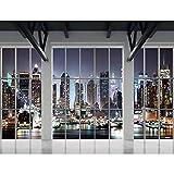Fototapeten Fenster nach New York 352 x 250 cm Vlies Wand Tapete Wohnzimmer Schlafzimmer Büro Flur Dekoration Wandbilder XXL Moderne Wanddeko - 100% MADE IN GERMANY - NY Stadt Runa Tapeten 9187011b