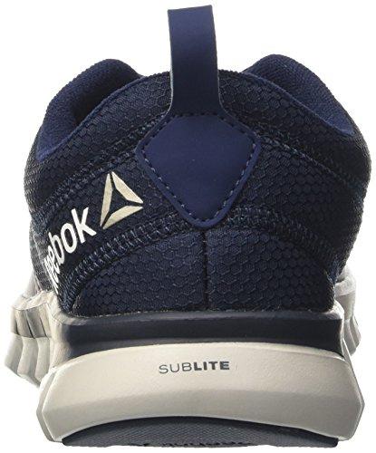 Reebok Sublite Authentic 4, Scarpe da Corsa Uomo Multicolore (Navy/Grey/Blk)