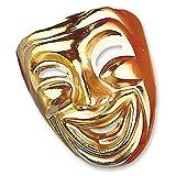 Lachende Maske Ballmaske gold Goldmaske Venezianische Maske Venedigmaske Venedig Gesichtsmaske Karneval Vendetta