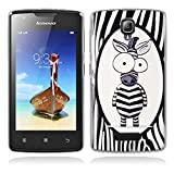Lenovo A1000 Hülle, Lenovo A1000 Silicone Hülle, Gift_Source [ Nettes Zebra ] Hülle Case Transparent Weiche Silikon Schutzhülle Handyhülle Schutzhülle Durchsichtig TPU Crystal Clear Case Backcover Bumper Case für Lenovo A1000 (for phone not for tablet)