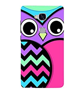Citydreamz Owl Hard Polycarbonate Designer Back Case Cover For Huawei Honor 5X