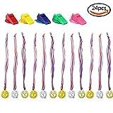 Goodlucky365 Medaillen(2 Dutzend)Gold Silber Kupfer Medaillen vom olympischen Stil mit 5 Whistles