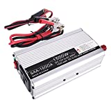 #3: Soule silvery : 1500W Peak Power Inverter Rated 500W DC12V to AC 220-240V Household Solar Power Inverter Converter Modified Sine Wave Form Electric Lighting, Computer, TV, Fan, Small Power Electric Wheel