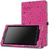 MoKo Fire 7 2015 Funda - Slim Soporte Funda para Amazon Fire 7 2015 Tableta, Cutie Charm Fucsia