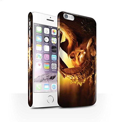 Officiel Elena Dudina Coque / Clipser Brillant Etui pour Apple iPhone 6 / Loups Blancs Design / Les Animaux Collection Jacinthe