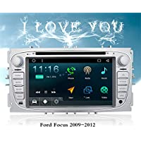 """7"""" Android 7.1 Car DVD Player Special for Ford Focus 2009-2013 Car Stereo Capacitive Touch Screen GPS Navigation Bluetooth Video Player with FM/AM USB/SD Mirror Link SWC Cam-In 1080P Video"""